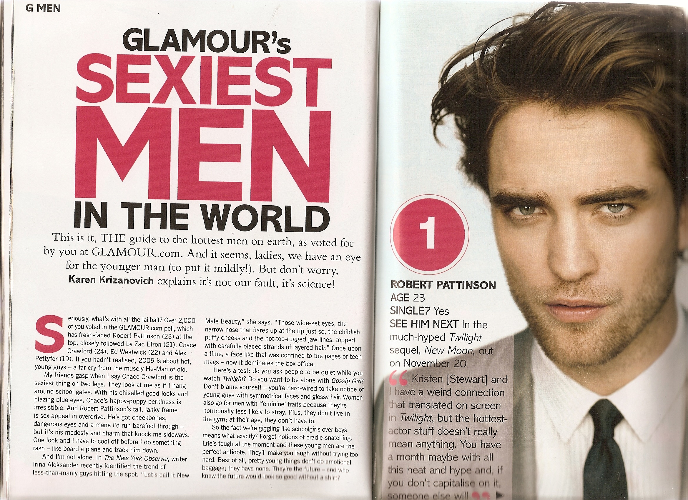 Robert Pattinson Named Sexiest Man Alive By Britain S Glamour Magazine Thinking Of Rob