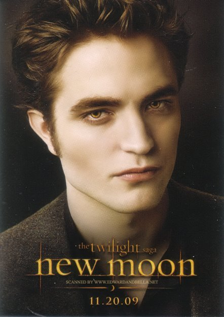 New Moon Promo Poster Of Robert Pattinson Edward Cullen