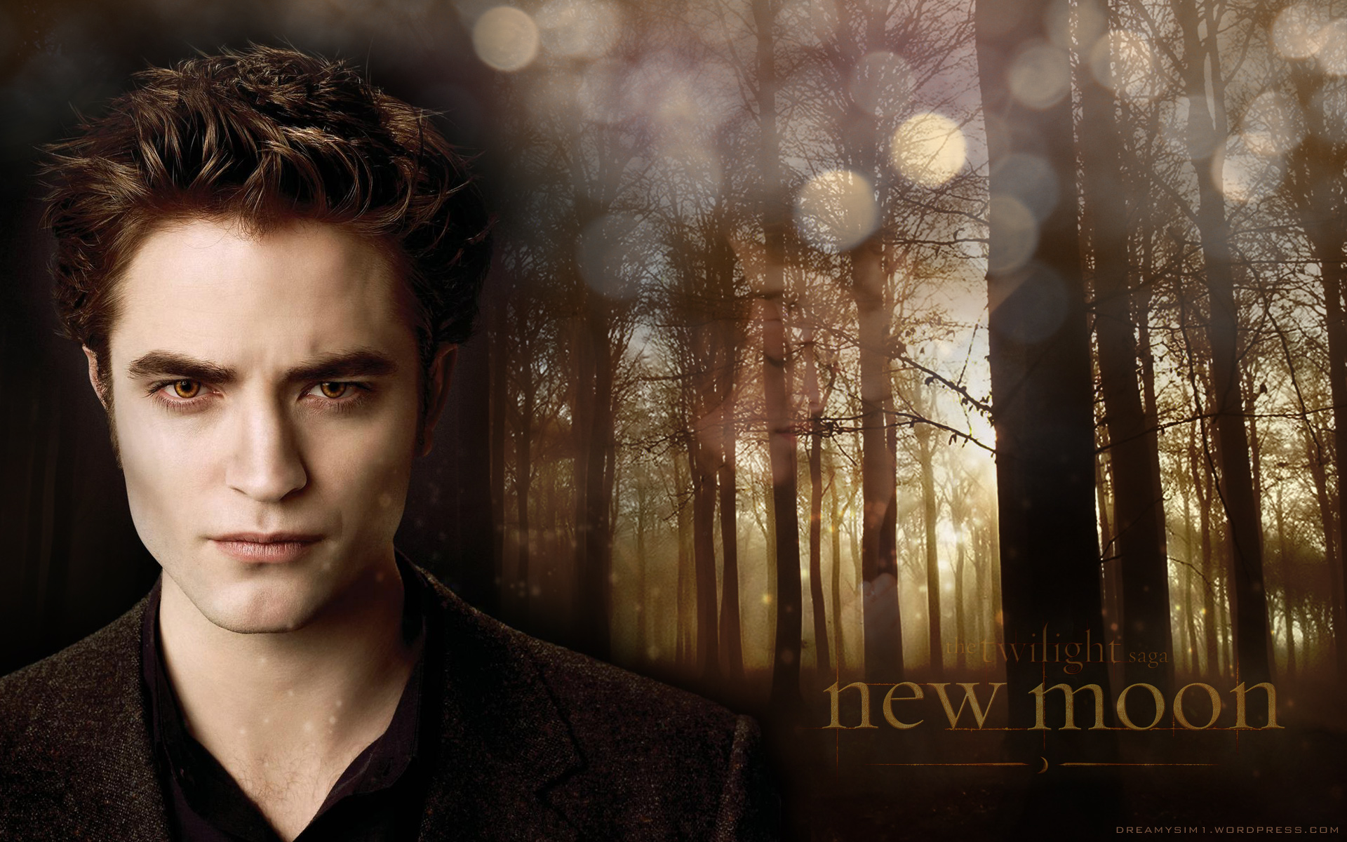 3 Gorgeous New Moon background with Robert Pattinson ... Robert Pattinson News