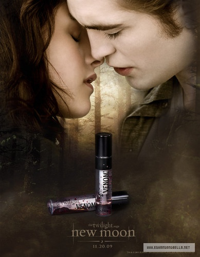 robert pattinson new moon poster. New Edward/Bella Poster