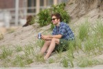 Robert Pattinson seen filming Remember Me in New York