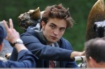 Robert Pattinson on location for 'Remember Me' in Central Park, New York City