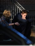 Robert Pattinson and Emilie De Ravin on the set of Remember Me, NYC