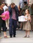 Robert Pattinson filming in New York city