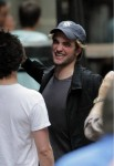 'Twilight' heartthrob ROBERT PATTINSON getting flirty on set with a Kristen Stewart lookalike while filming his new movie in New York