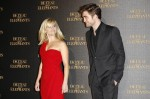 "Actor Robert Pattinson and actress Reese Witherspoon arrive at the French premiere of ""Water for Elephants"" in Paris"