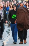 """Robert Pattinson, wearing a Nike hooded sweatshirt, arrives at the """"Jimmy Kimmel Live!""""  studio in LA to promote his latest film """"Water for Elephants"""""""