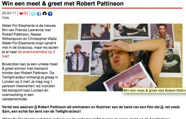 meet and greet robert pattinson brussel
