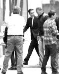 Robert Pattinson on movie set in Toronto