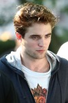 Robert Pattinson displays many faces on the set of _Remember Me_ in NYC