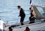 ROBERT PATTINSON steigt in Cannes aus einerYacht