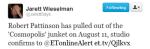 Twitter – JarettSays- Robert Pattinson has pulled…