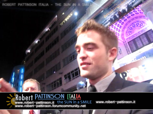 robert pattinson italia the sun in a smile photo premiere 2