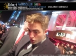 robert pattinson italia the sun in a smile photo premiere