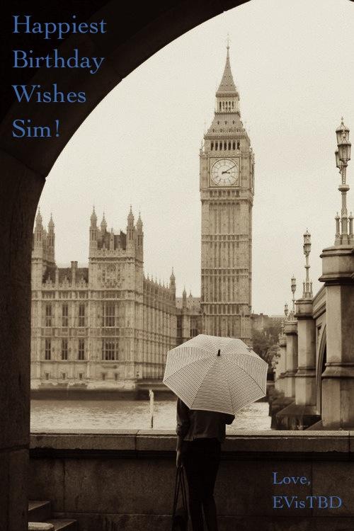 Sim Birthday London