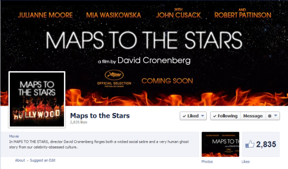 MapsToTheStars FB page