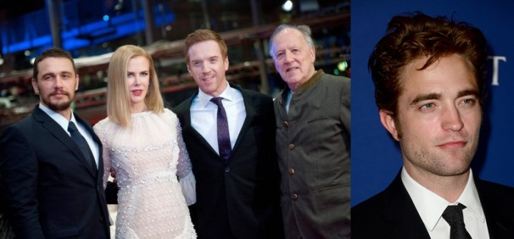 Actors Franco Kidman Lewis and director Herzog arrive for screening at 65th Berlinale International Film Festival in Berlin